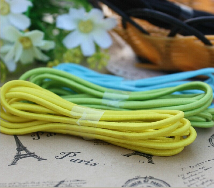 3MM Color Round Elastic Band Stretch Rope Bungee Cord Strings DIY Hair Accessories(China (Mainland))