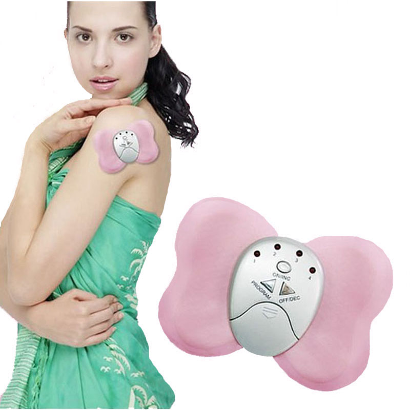 Butterfly Design Losing Weight Burning Fat Slimming Body Massager Electric Vibrator Muscle Massageador(China (Mainland))