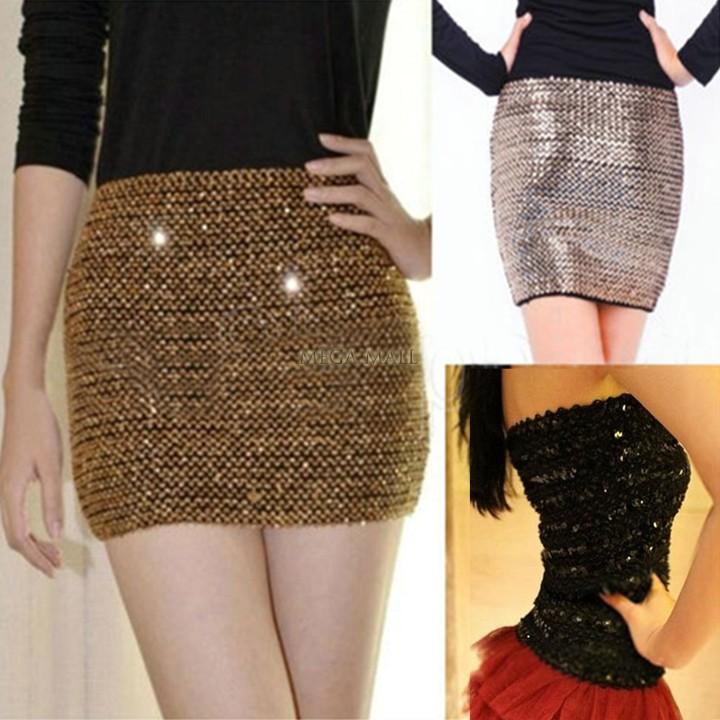 Girl Party Glitter Bodycon Bandage Mini Skirt Gold Sequin Skirt Sexy Petite Tight Short Skirts for Women Ladies Juniors Saia BJ6(China (Mainland))