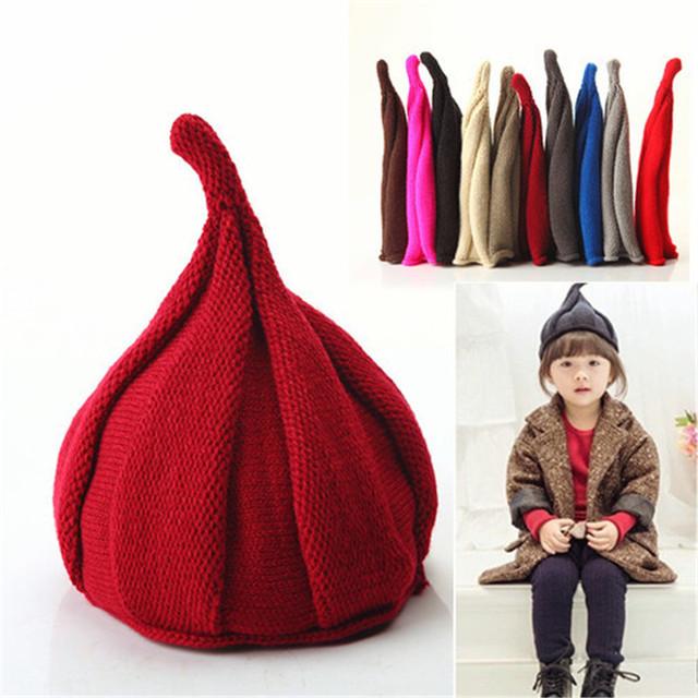Конфеты цвет ребенок зима вязаная шапка осень зима теплая подчеркнуто Hat мальчики ...