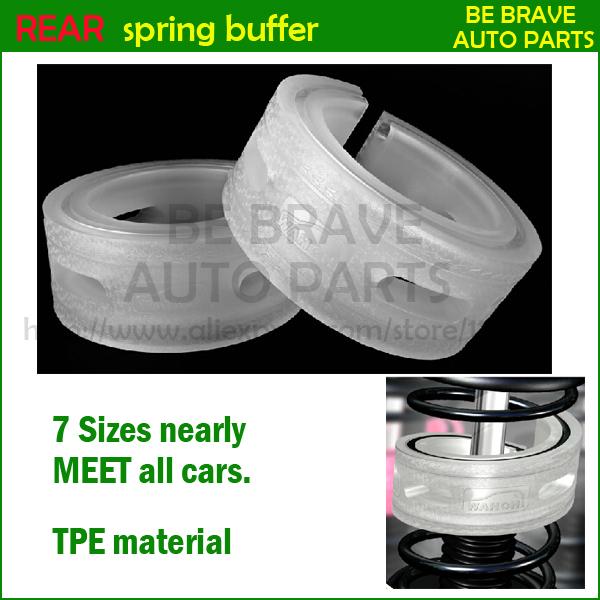 2pcs white REAR  auto shock absorber cushion buffer Damping rubber  wheel spring buffer<br><br>Aliexpress