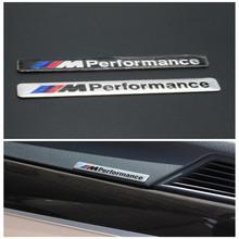Car Styling 8.5x1.2cm Motosport M Performance Car Door Sticker Badge For BMW Decal m3 m5 X1 X3 X5 X6 E36 E39 E46 E30 E60 parking(China (Mainland))