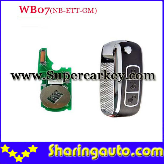 Free shipping WB07 3 button remote key with NB-ETT-GM Model for URG200/KD900 machine 1pcs/lot<br><br>Aliexpress