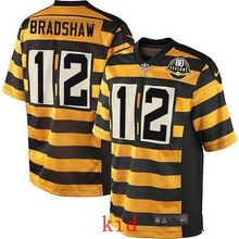 100% Elite men Pittsburgh Steelers WOMEN YOUTH KIDS HOT SALE NEW FAST SHIPPING 12 Terry Bradshaw(China (Mainland))