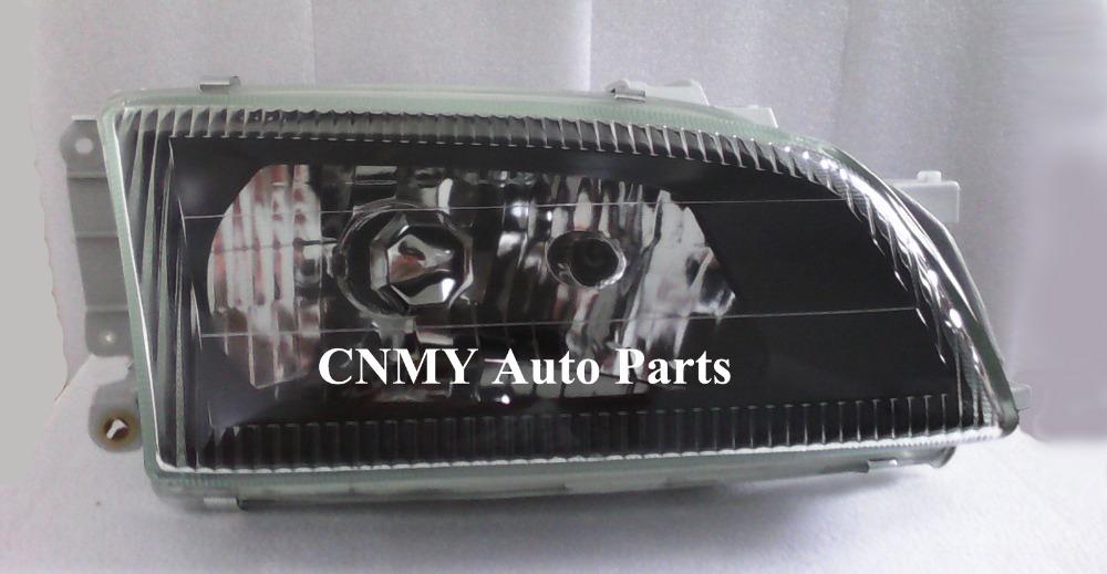 Black Glass Head lights for Toyota Caldina Van 1992-02 T196 / Caldina Wagon 1992-96 ST190/191/195 AT191 T190 series(China (Mainland))