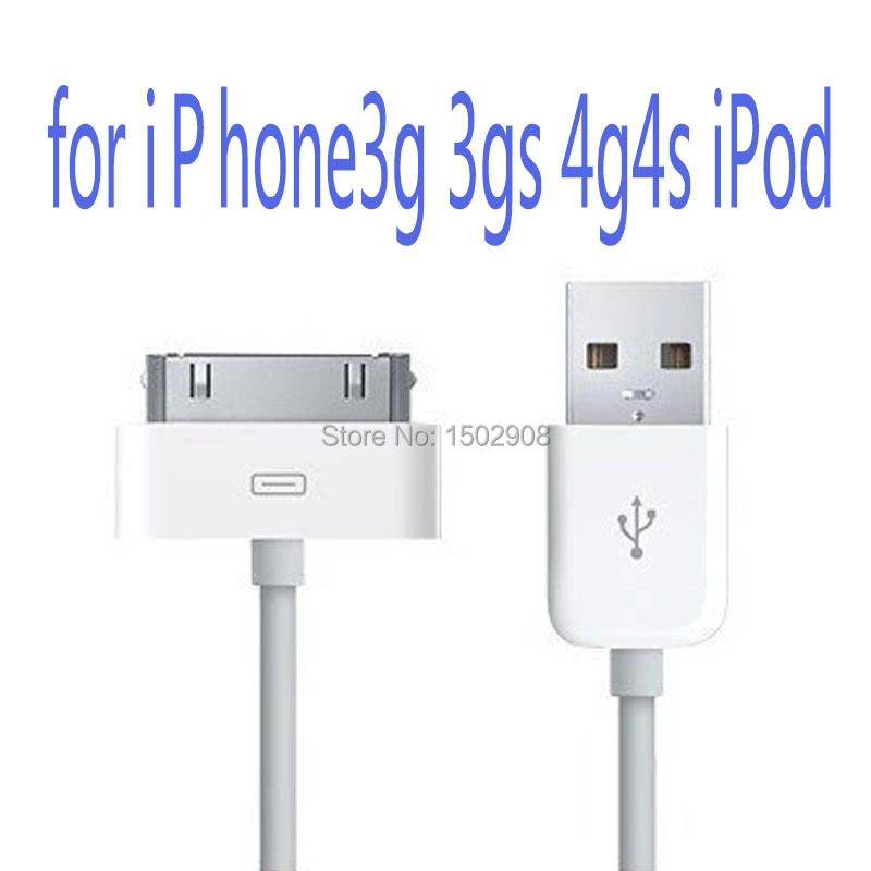 Free Shipping - square head 6-pin USB 2.0 data cable is suitable for Iphone 3G 4 4S Ipad data cable / charging cable(China (Mainland))