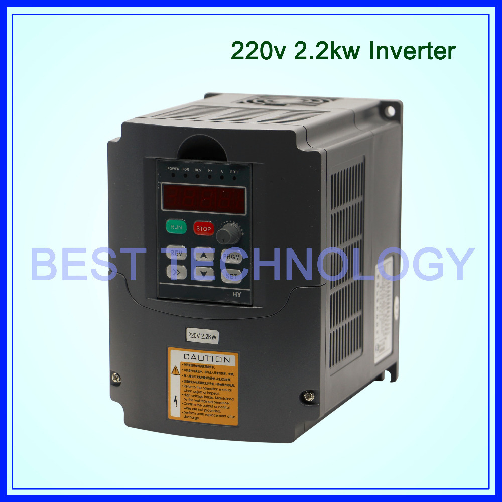 CNC Spindle motor speed control 220v 2.2kw VFD Variable Frequency Drive VFD Inverter 1HP or 3HP Input 3HP frequency inverter(China (Mainland))