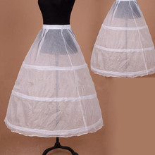 In Stock 3 Hoops Petticoats for wedding dress Wedding Accessories Free Shipping Crinoline Cheap Underskirt For Ball Gown 2016(China (Mainland))