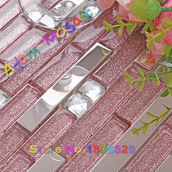 Mirror mosaic tiles sheet promozione fai spesa di articoli - Striscia di mosaico in bagno ...