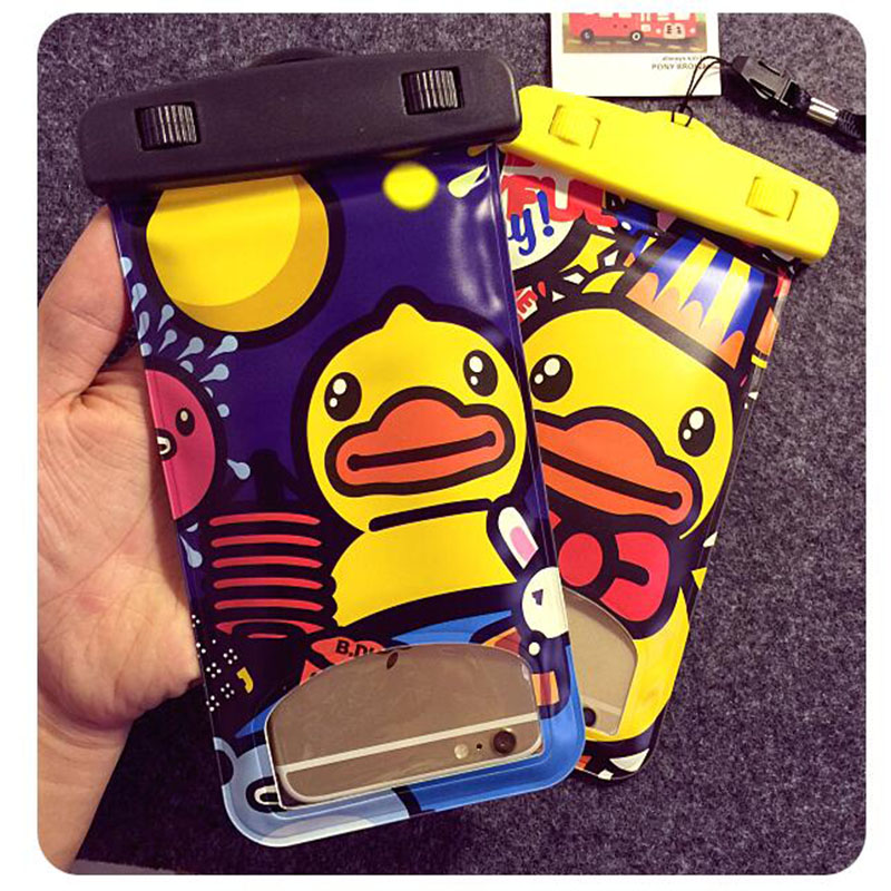 Cartoon Promotion Mobile Phone Waterproof Sleeve Cellphone Bag For iPhone 6 Plus / Samsung/ Xiaomi Phone Bag(China (Mainland))