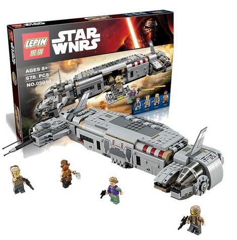 Star Wars 678pcs LEPIN 05010 Resistance Troop Transporter minifigures building block model toy compatible with 75140(China (Mainland))