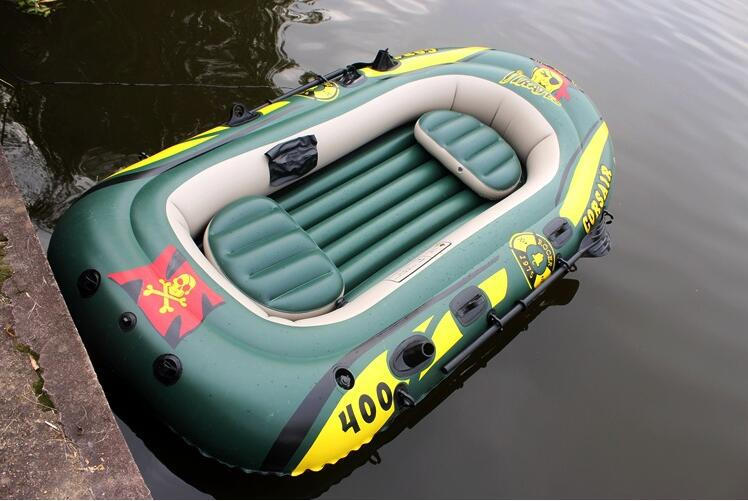 NEW Oversized thickening 4 / four inflatable boat inflatable boat canoe outdoor sports Pirate Ship Fishing boat(China (Mainland))