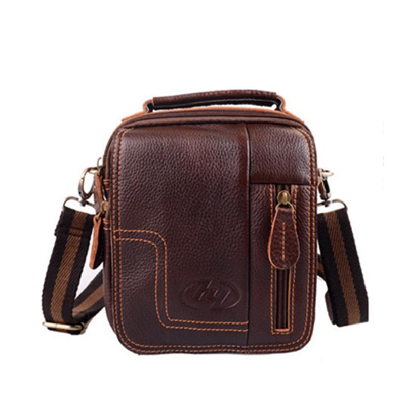 2014 fashion new mens Messenger Bag Retro Shoulder Bag Genuine Leather Small Bag mens travel bags<br><br>Aliexpress