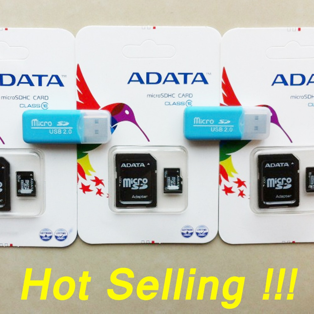 Wholesale High speed memory card Micro SD card8GBTO 64GB class 10 micro sd 64GB Flash TF CARD +SD transfer adapter+card reader(China (Mainland))