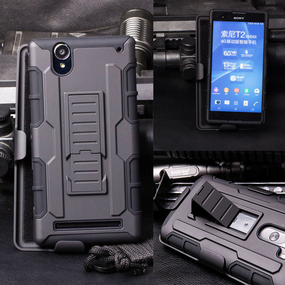 For Sony Xperia T2 Ultra Dual Case, Impact Holster Hard Case For Sony Xperia T2 Ultra Dual D5322 XM50h D5303 D5306 Cover(China (Mainland))