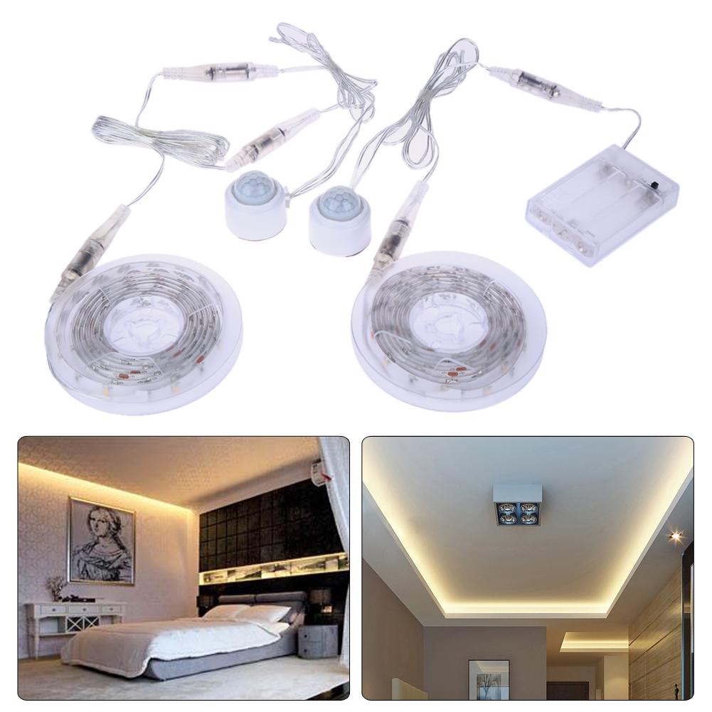 1.5m LED Bed USB LED Strip Night Light Flexible Sensor Automatic Shut Off Floor Lamps Bedroom Cabinet Chest Decorative Light(China (Mainland))