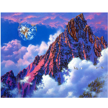 2016 mountain New 5D Diy rhinestones Diamond Painting Cross Stitch full Square drill resin mosaic Diamond Embroidery Needlework