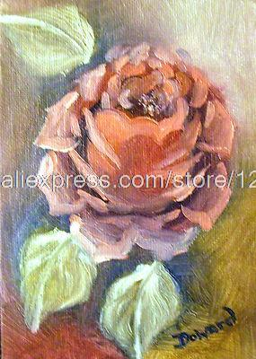 Bed Room Background Decoration Art Free Shipping Hand Painted Oil Paintings On Canvas Roses Oil Canvas Board Art Painting(China (Mainland))