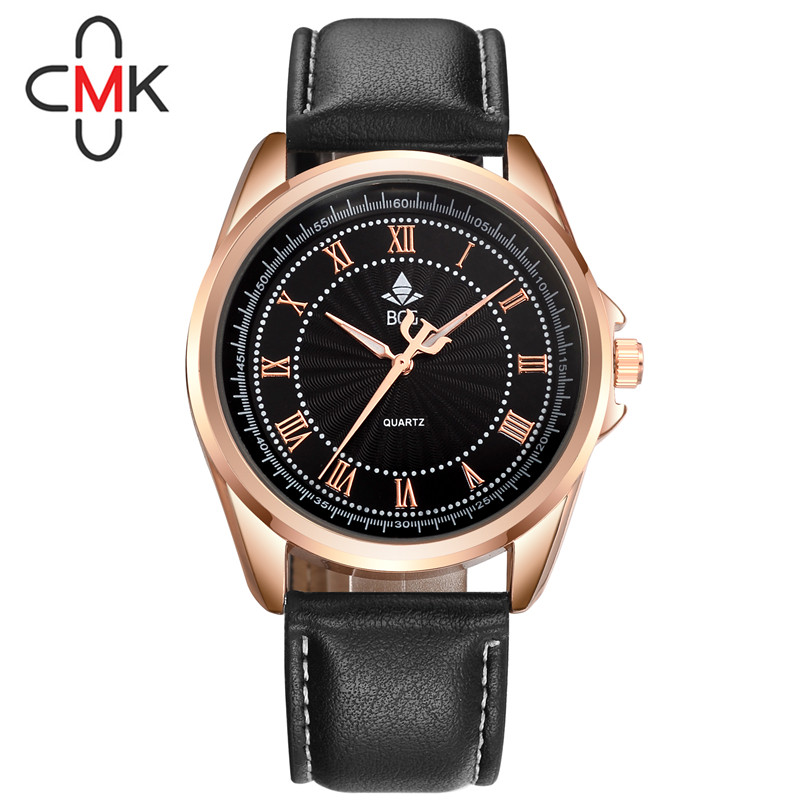Top Brand Luxury Famous Male Clock Quartz Watch Rose Gold Wrist Watch Men 2016 Golden Wristwatch Quartz-watch Relogio Masculino(China (Mainland))