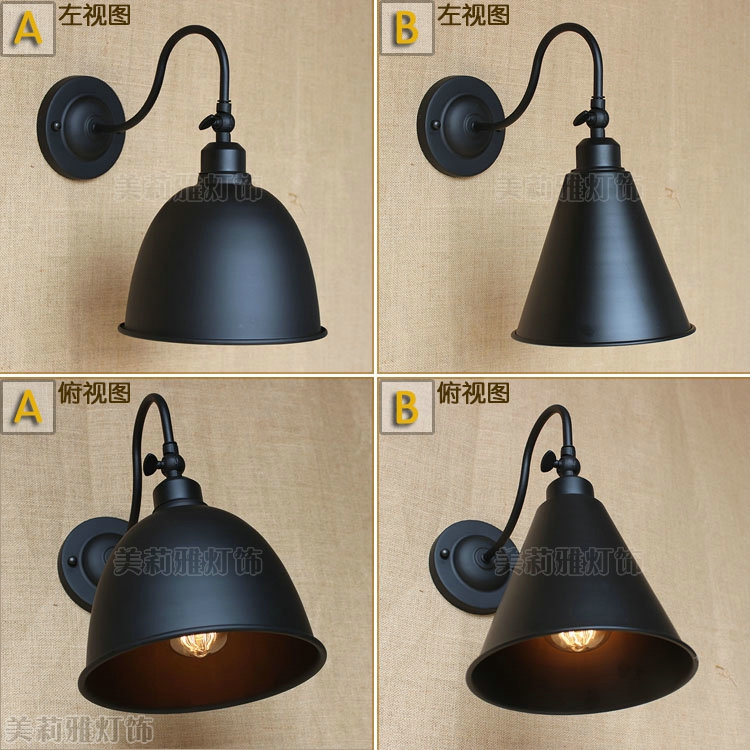 american retro loft style industrial wall lamp vintage fixtures stair light edison wall sconce. Black Bedroom Furniture Sets. Home Design Ideas
