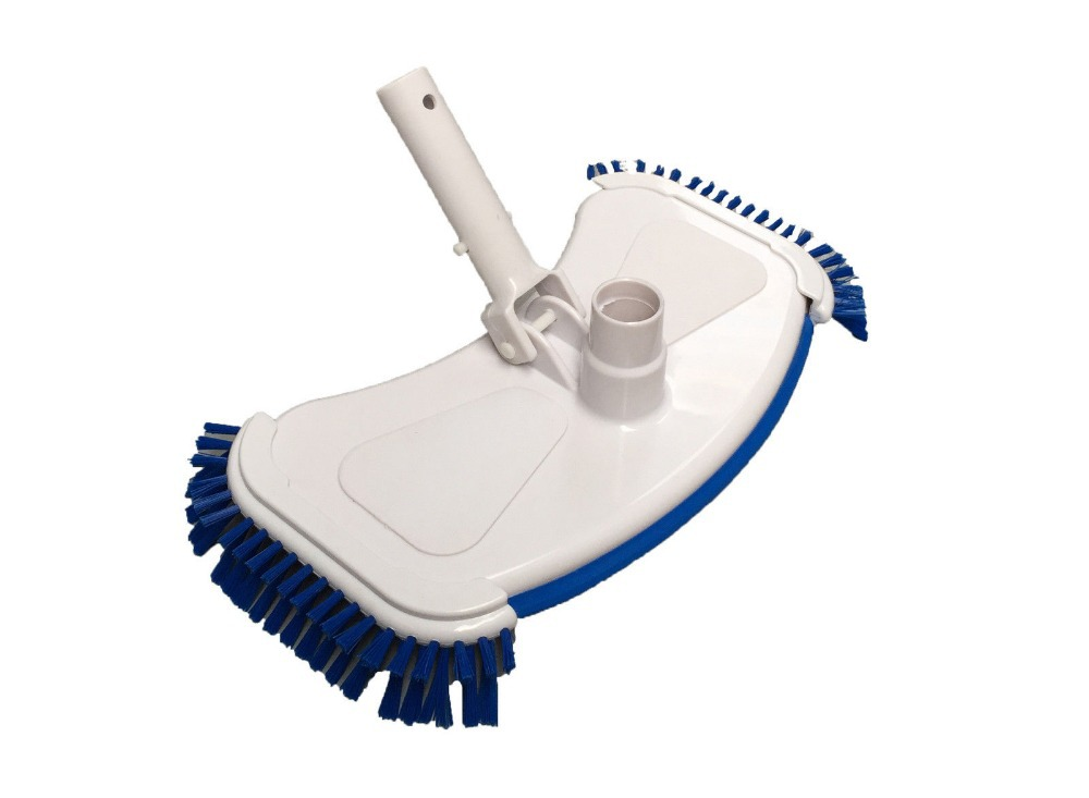 Deluxe Weighted Swimming Pool Vacuum Head Cleaner Side Brushes, Koi Fish Pond(China (Mainland))