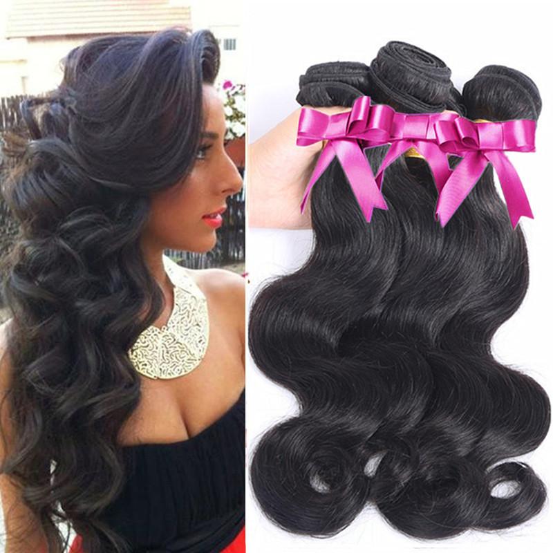 Hair Weave Rose Hair Products Grade 7A Cheap Brazilian Hair 3 pcs Lot Brazilian Body Wave 100% Virgin Remy Human Hair Weave<br><br>Aliexpress