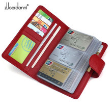 Buy 114 Slots Genuine Leather Credit Card Holder Business Card Case High Bank/ID Card Holder Luxury Card Bags Large Capacity for $24.98 in AliExpress store