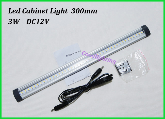 Free shipping led kitchen light ulter thin Cabinet lamp 3W 300mm with 42led SMD 3528 DC12V 300lm White or warm white<br><br>Aliexpress