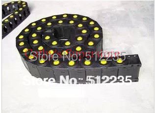 Cable Drag Chain Link Opened Internal Size 18x25 External Size 23x36 Industrial Nylon Plastic(China (Mainland))