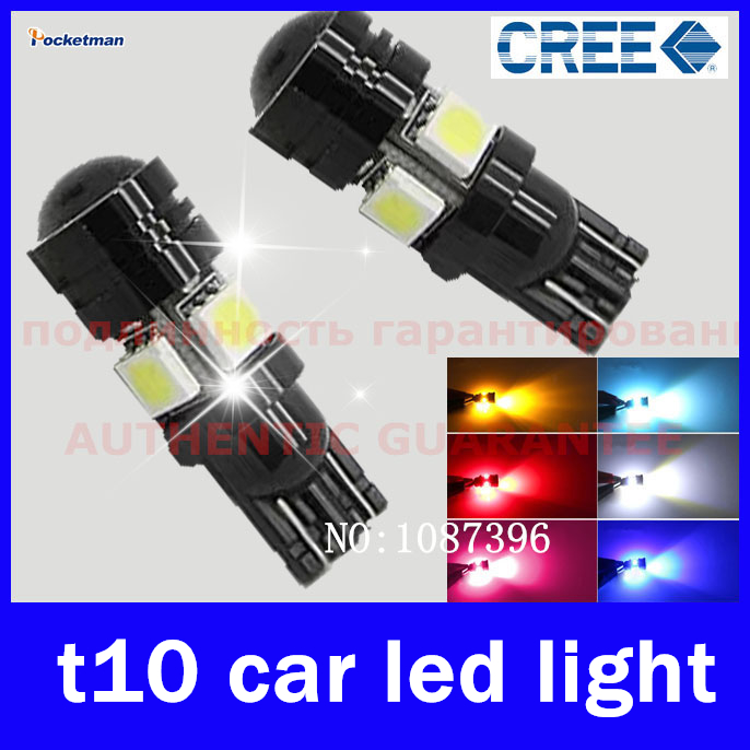 2pcs T10 LED W5W Car LED Auto Lamp 12V Light bulbs with Projector Lens for Ford Focus Cruze Tiguan Interior Packing Car Styling(China (Mainland))