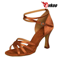 Salsa Latin Dance Shoes For Ladies Evkoo Dance Brand New Design Pu With Shiny 7cm Heel Lady Shoes Evkoo-198