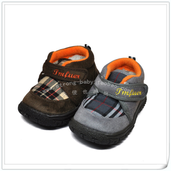 Children soft outsole toddler shoes baby cotton-padded shoes baby snow boots bm231