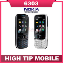 Nokia Original Unlcoked 6303 classic mobile phone 1 year warranty Refurbished phone Fast Free Shipping(China (Mainland))