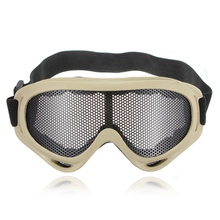 Newest Hot Sale Outdoors Hunting Airsoft Net Tactical Shock Resistance Eyes Protecting Outdoor Sports Metal Mesh Glasses Goggle
