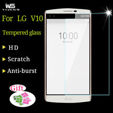 Premium Tempered Glass film for LG V10 5.7inches Screen Protector Anti-shatter film for LG V10 front HD LCD glass Protector film