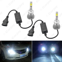 Buy 2pcs Super White 880/881 60W 6400LM Car COB LED Headlight Kit Fog Lamp Bulbs Light Xenon 6000k #CA2871 for $18.04 in AliExpress store