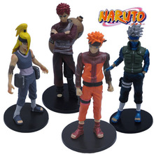 Naruto figures 4pcs new NARUTO Shippuuden Japan Cartoon & Anime #E Naruto Deidara Kakashi Gaara