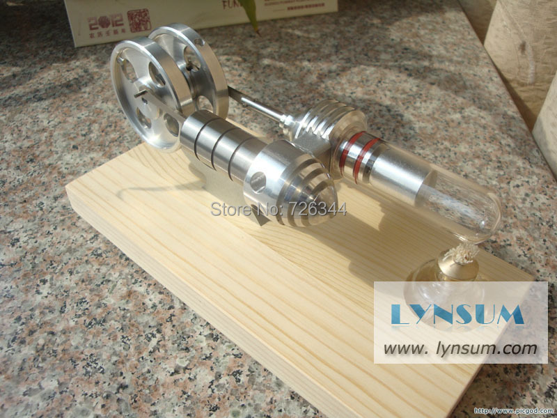 S02008 Double Flywheel Hot Air Stirling Engine Generator(China (Mainland))