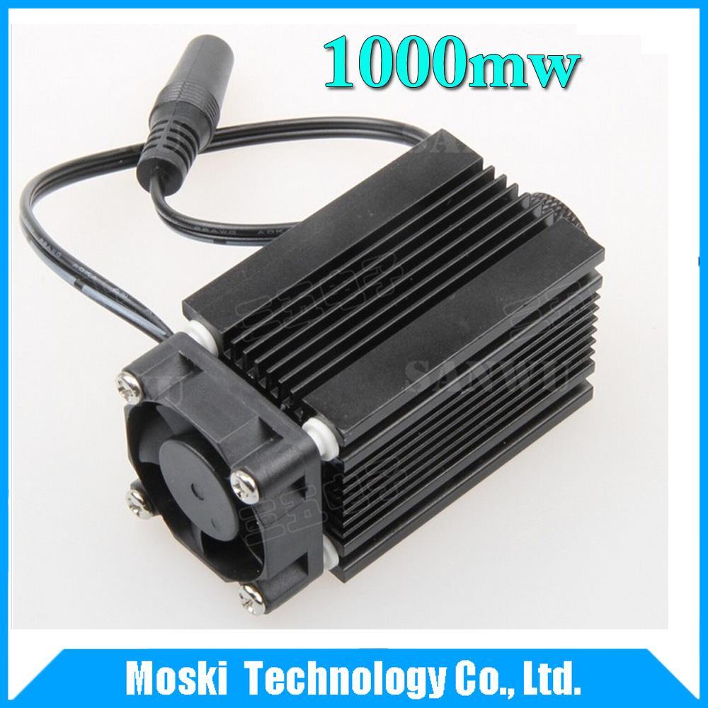 Freeshipping ! 1000mw blue laser head , 450nm diy laser machine parts laser diode laser tube(China (Mainland))