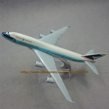 16cm Alloy Metal Hong Kong Air Cathay Pacific Airlines Boeing 747 B747 400 Airways Plane Model Airplane Model w Stand Toy Gift(China (Mainland))