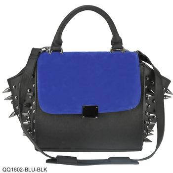 2 Color Rock Style Rivets Decoration Patchwork Design Fashion Bags 2014 Messenger Bag/QQ1602