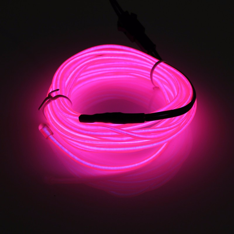 Hot Sale 10 Colors 300CM Led Flexible EL Wire Neon Glow Light With 12V Controller Party Decor(China (Mainland))
