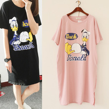 Free Shipping The New Women's Clothing in Spring and Summer 2016 Rupture Donald Cartoon Han Edition Loose Dress