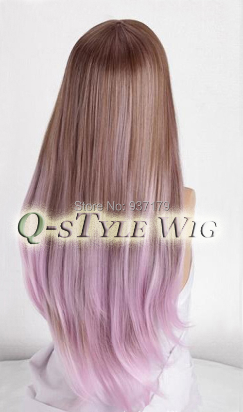 Brown to light purple ombre