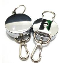 2pcs/Lot Fly Sea Fly Fishing Retractor on Corrosion Protection with one Zinger Metal Zingers Retractor Free Shipping L132
