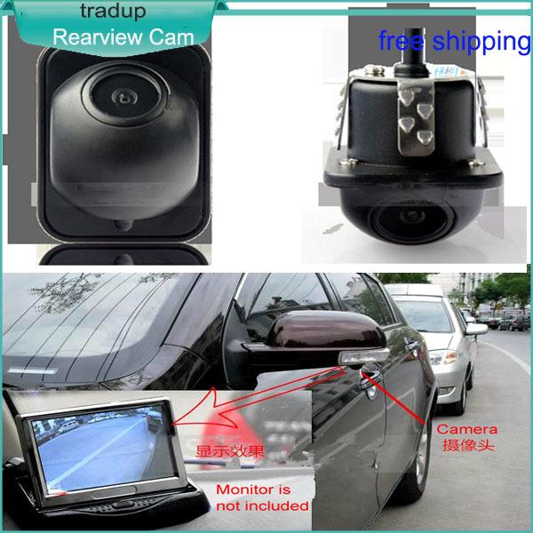 2015 new punching small straw hat hd auto car night vision reversing image rearview camera(China (Mainland))