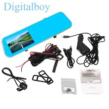Car Camera Dash Cam Dvr Dual Lens Rearview Mirror Full HD 1080p Auto Recorder Video Registrator Camcorder Rear 720P - Shenzhen Digitalboy Automobiles & Motorcycles Product Franchise Store store