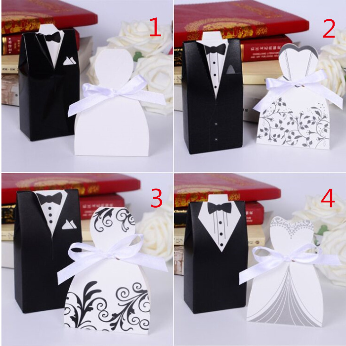 And Groom Wedding Favor Boxes Wedding Candy Box Casamento Wedding ...