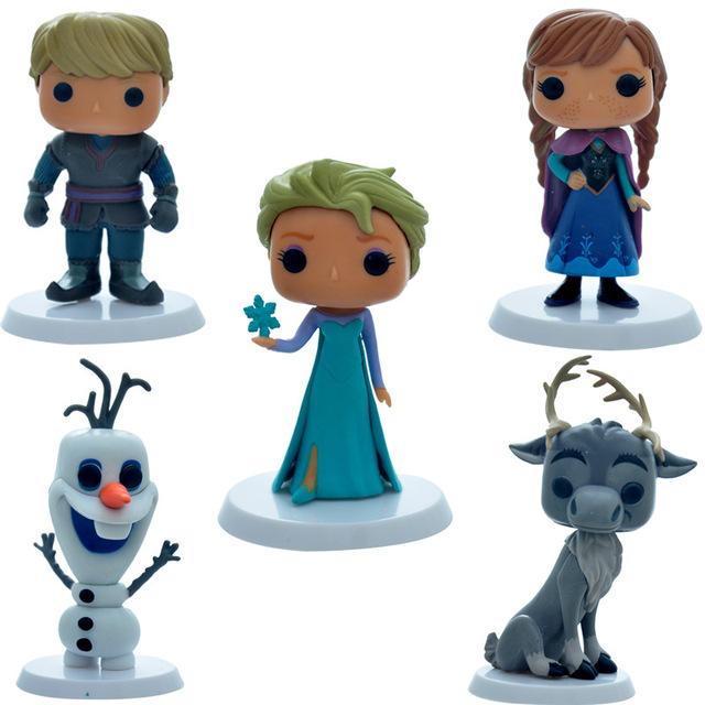 Симпатичные принцесса эльза анна и кристоф пвх фигурку игрушки модель коллекция для детей подарок 5 шт./лот 12 см бесплатная доставка