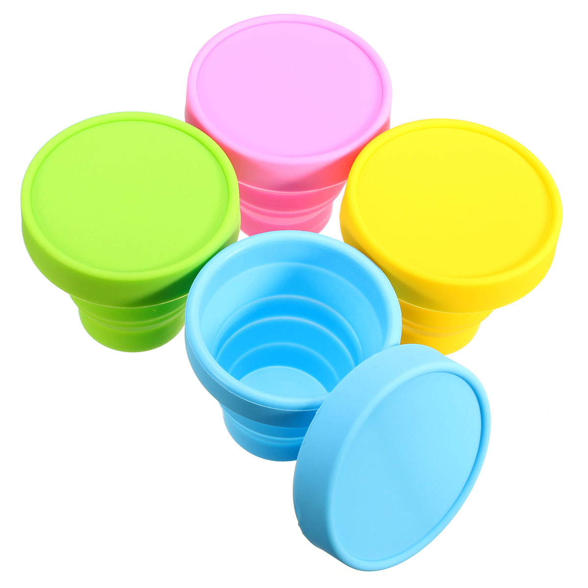 170ml  Retractable Portable Silicone Mugs Folding Cup Outdoor Travel Telescopic Collapsible Cups Outdoor Sports Gargle Mug